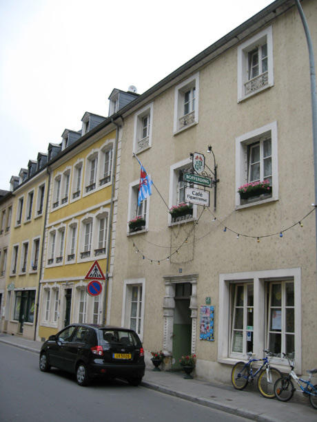 Cafe figueirense in luxembourg grund valley photo