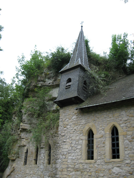 Small castle in luxembourg grund valley photo